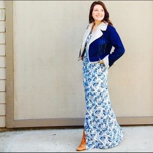 Lauren Conrad Blue and White Floral Maxi.